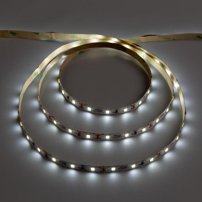 Комплект светодиодной ленты TDM SMD2835, 60 LED/м, 4.8 Вт/м, 12 В, IP20, 6000 К, 3 м - фото 687156116