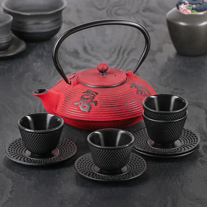 """Набор для чайной церемонии на 4 персоны """"Китайская мудрость"""", 9 предметов, чайник 800 мл"""