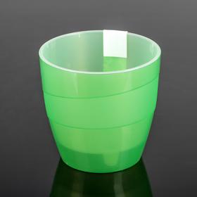 Кашпо «Грация», 2 л, цвет прозрачно-зелёный