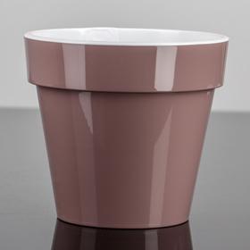 Кашпо со вставкой «Порто», 2,4 л, цвет мокко