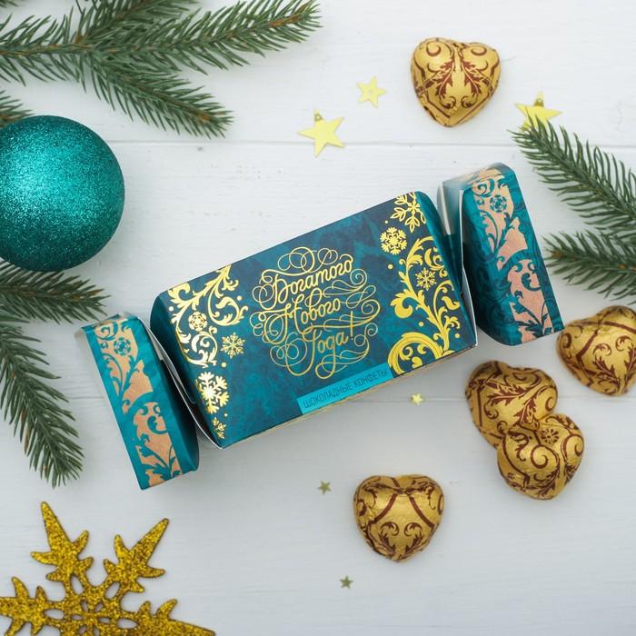 """Шоколадные конфеты в хлопушке """"Богатого Нового года"""""""