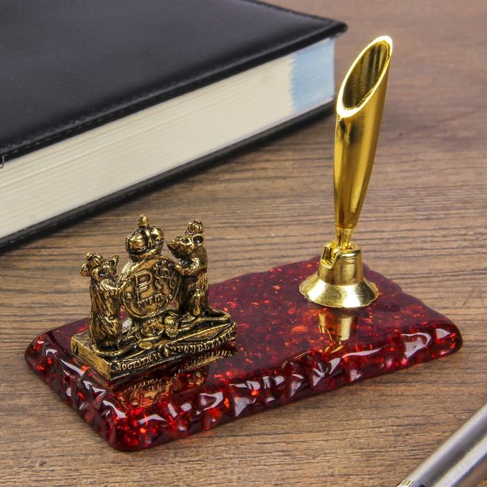"""Подставка под ручку """"Достатка и процветания"""",золото, 8 х 8 см"""