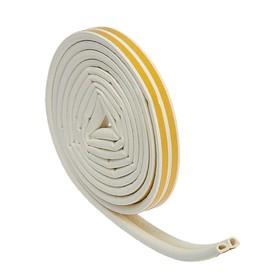 Уплотнитель резиновый TUNDRA krep, профиль D, размер 9 х 8 мм, белый, в упаковке 6 м