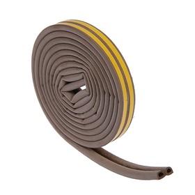 Уплотнитель резиновый TUNDRA krep, профиль D, размер 9 х 8 мм, коричневый, в упаковке 6 м
