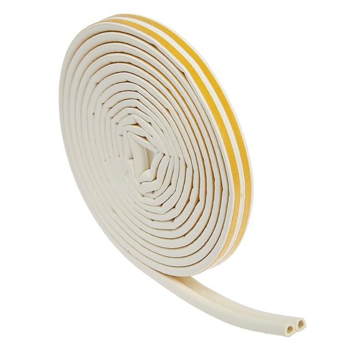 Уплотнитель резиновый TUNDRA krep, профиль D, размер 9 х 8 мм, белый, в упаковке 10 м