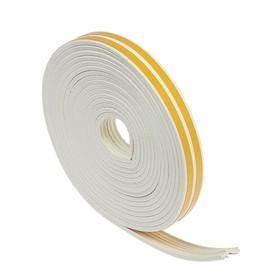 Уплотнитель резиновый TUNDRA krep, профиль Е, размер 4 х 9 мм, белый, в упаковке 10 м