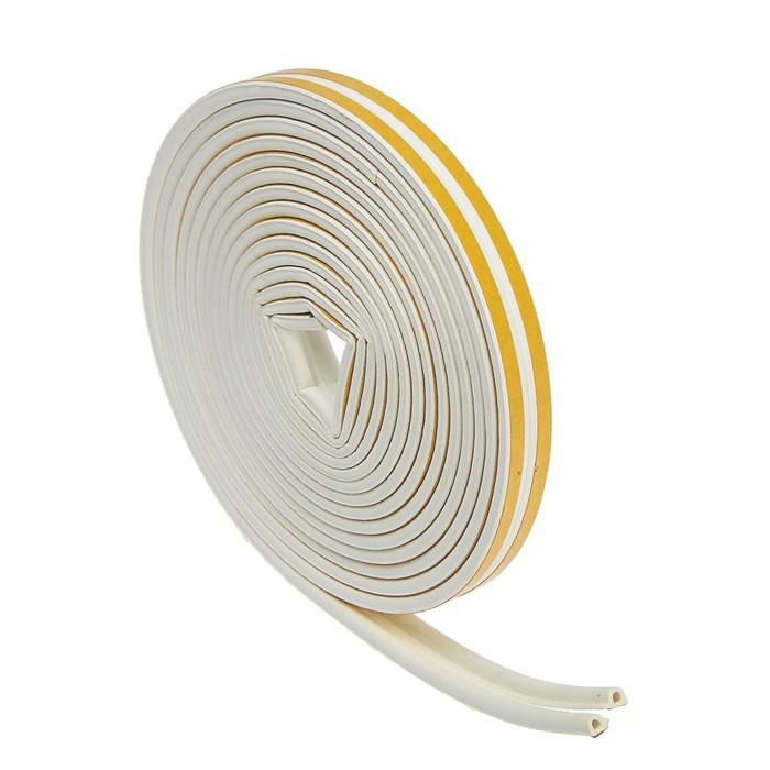 Уплотнитель резиновый TUNDRA krep, профиль Р, размер 5.5 х 9 мм, белый, в упаковке 10 м