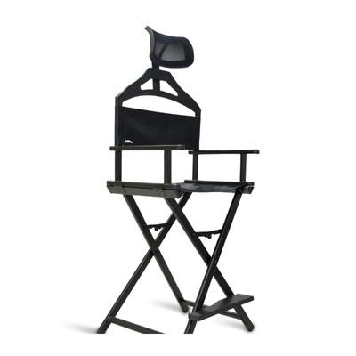 Разборный стул визажиста, из алюминия, с подголовником, 59*42*145