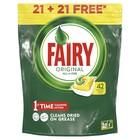 Капсулы для посудомоечной машины Fairy Original All In One Лимон 21+21 (42 шт.)