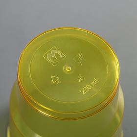 """Стакан для холодных напитков 200 мл """"Кристалл"""", 6 шт, цвет МИКС"""