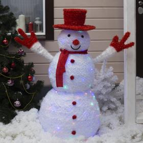 """Фигура текстиль """"Снеговик"""" 125х60х125 см, 125 LED, 220V, МУЛЬТИ"""
