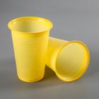 Стакан одноразовый 200 мл, цвет желтый, набор 12 шт