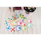 Развивающая игра шнуровка «Бусины» с карточками «Учим счёт, цвета и формы» - фото 105495625