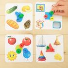 Развивающая игра шнуровка «Бусины» с карточками «Учим счёт, цвета и формы» - фото 105495618