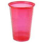 Набор стаканов одноразовых 200 мл, 12 шт, цвет красный