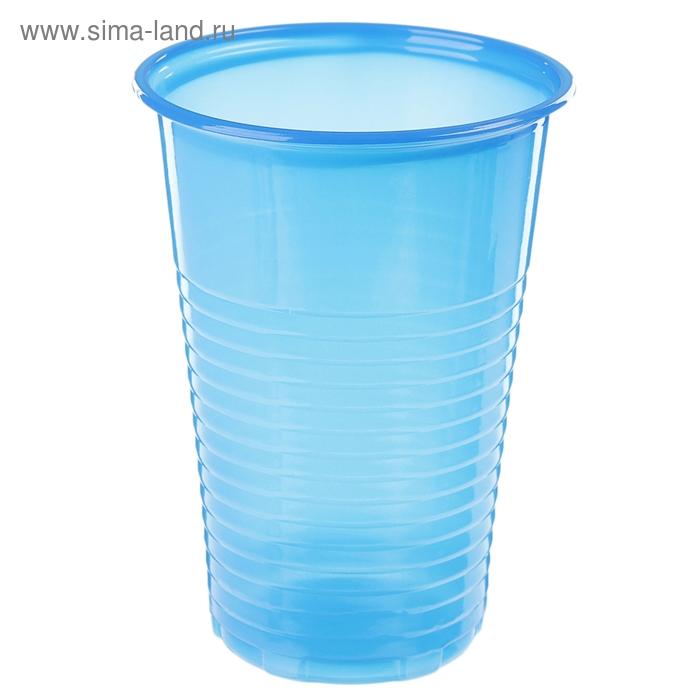 Набор стаканов одноразовых 200 мл, 6 шт, цвет синий