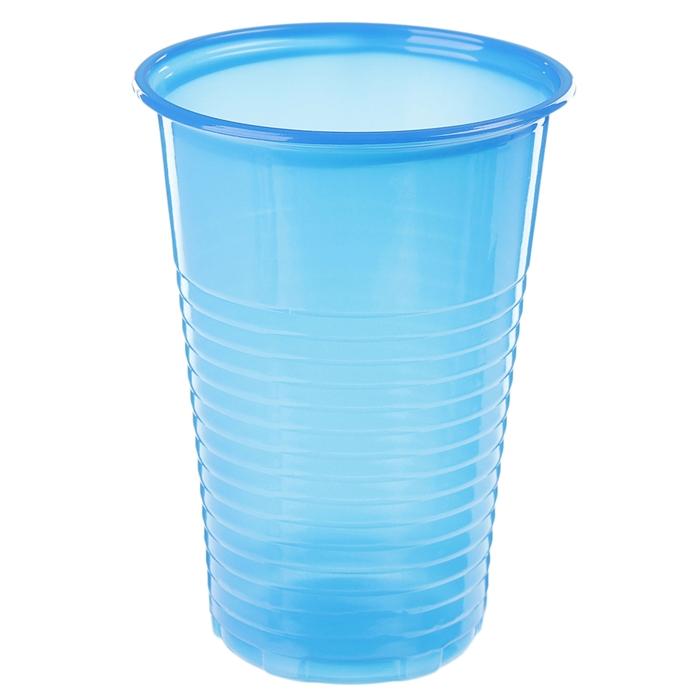 Стакан одноразовый 200 мл, цвет синий, набор 12 шт