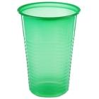 Стакан одноразовый 200 мл, цвет зеленый, набор 12 шт