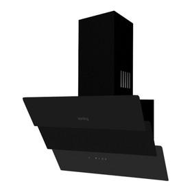 Наклонная вытяжка Körting KHC 66073 GN, 60 см, 3 режима, 550 м3/ч, пульт ДУ, чёрная