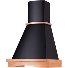 Вытяжка Körting KHC 6740 RN Wood, купольная, 700 м3/ч, 250 Вт, 3 скорости, 60 см, чёрная/дуб
