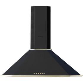 Купольная вытяжка Körting KHC 9639 RN, 90 см, 3 режима, 650 м3/ч, 250 Вт, чёрная