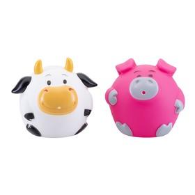 Набор игрушек для ванны «Кругляши с фермы», 2 шт.