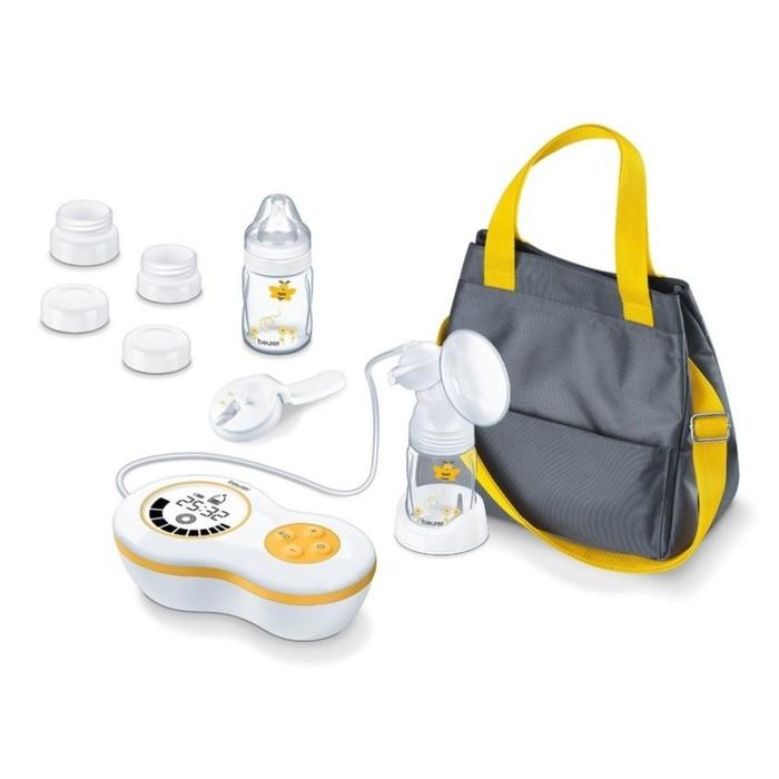 Молокоотсос Beurer BY60, 4хАА, 10 режимов, дисплей, 2 бутылочка, сумка