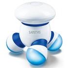 Массажёр Sanitas SMG11, для тела, 1.6 Вт, 3 головки, от батареек, бело-синий