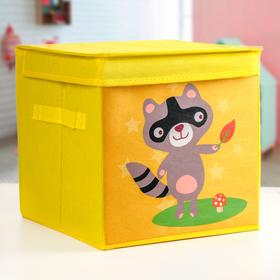 Короб для хранения с крышкой«Енотик», детский, 29×29×29 см