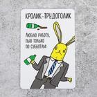 """Магнит виниловый """"Кролик-трудоголик"""", 90*60 мм"""
