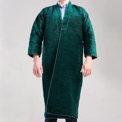 Чапан узбекский мужской зеленый