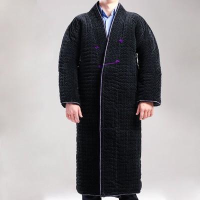 Чапан узбекский мужской серый утепленный