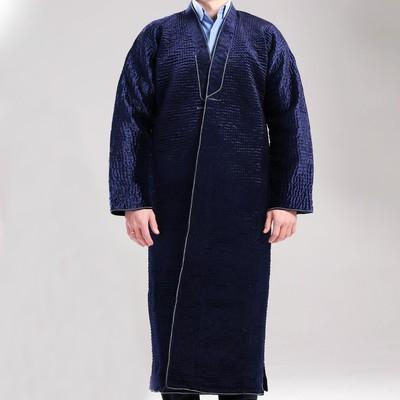 Чапан узбекский мужской синий