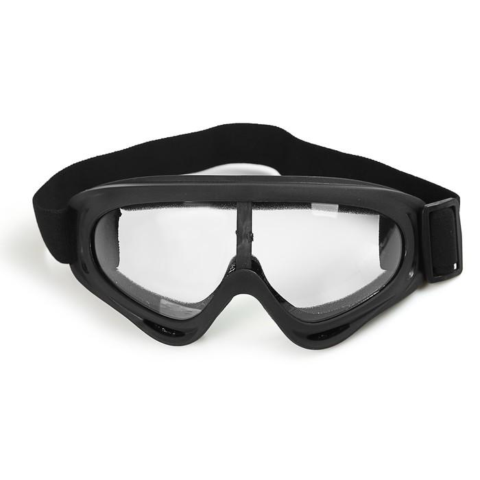 Очки, стекло прозрачное, черные