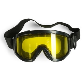 Glasses-mask, double-layered glass yellow, black