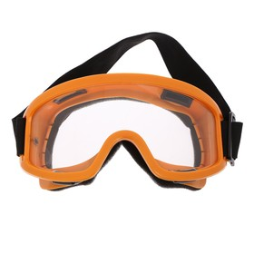 Очки-маска для езды на мототехнике, стекло прозрачное, цвет желтый