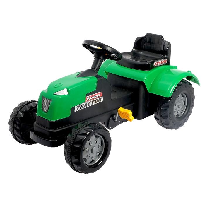 Веломобиль «Трактор», цвет зелёный