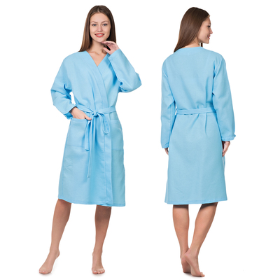 Waffle Bathrobe Zapashny female p-p 48, Col.Heavenly, 160 g/m CL.100%