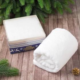 Махровое полотенце «Олени» 50×90 см, 100% хлопок, 340 г/м²