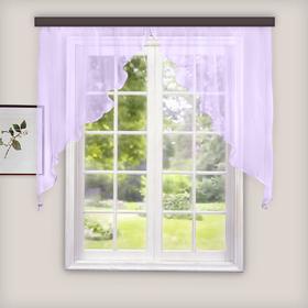 Комплект штор для кухни «Дуо», 300х120 см, цвет сиреневый
