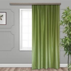 Штора портьерная Тергалет 140х260 см 1 шт, зелёный, 100% п/э Ош