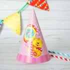 Колпак «Мишка», набор 6 шт., цвет розовый - фото 448280