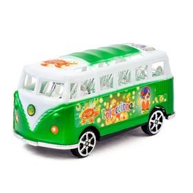 Автобус инерционный «Микроавтобус», цвета МИКС