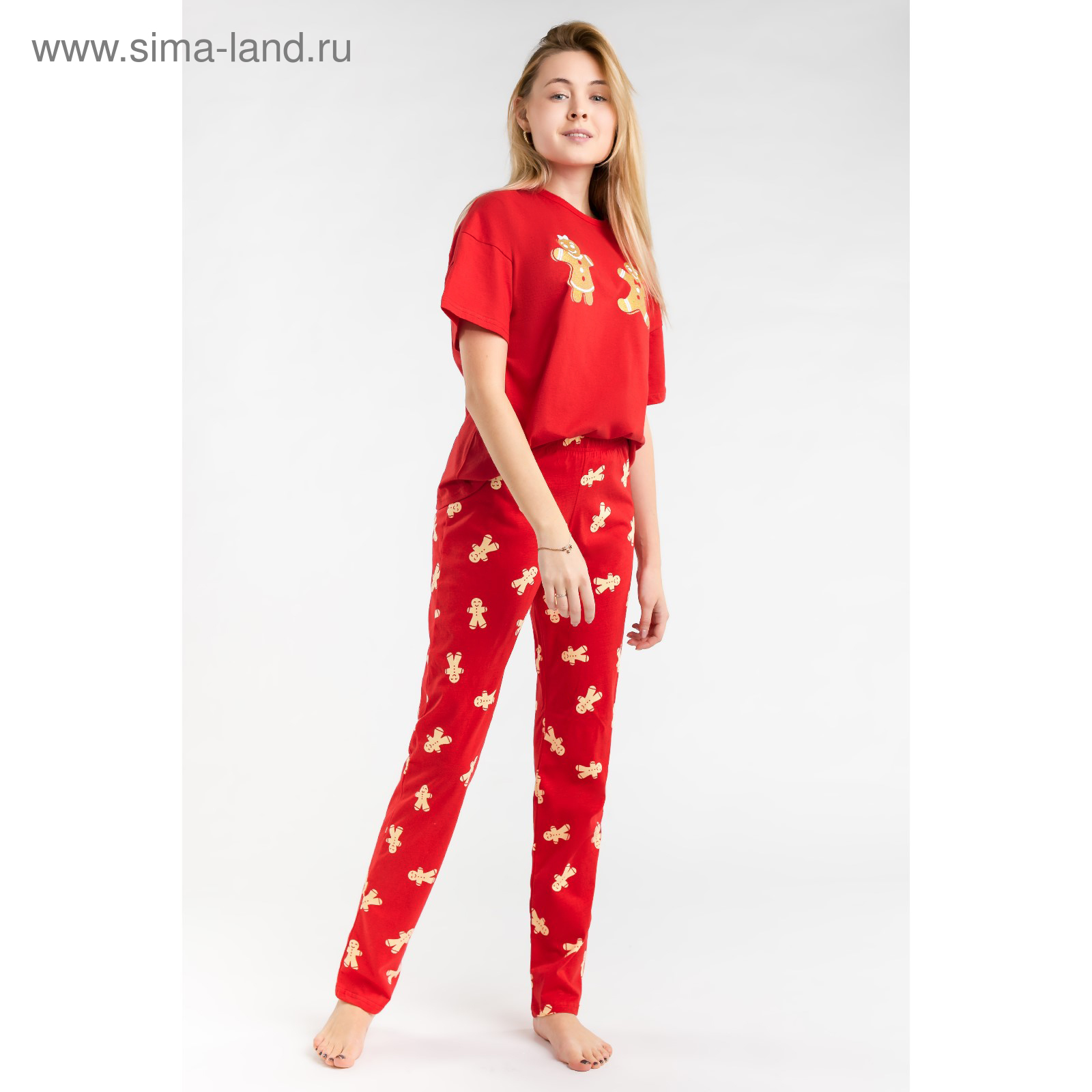 f5e6dc600bf4e Пижама женская (футболка, брюки) MINAKU