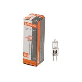 Лампа галогенная TDM JC, G4, 10 Вт, 12 В, прозрачная Ош
