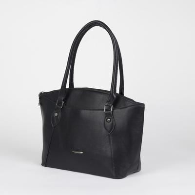 Bag, Department, partition with zip, 2 external pockets, color black