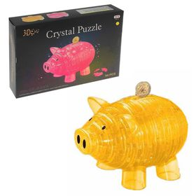"3D crystal puzzle, ""the Pig-piggy Bank"", 94 parts, MIX color"