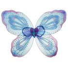 """Карнавальные крылья """"Узор"""", цвет голубой"""