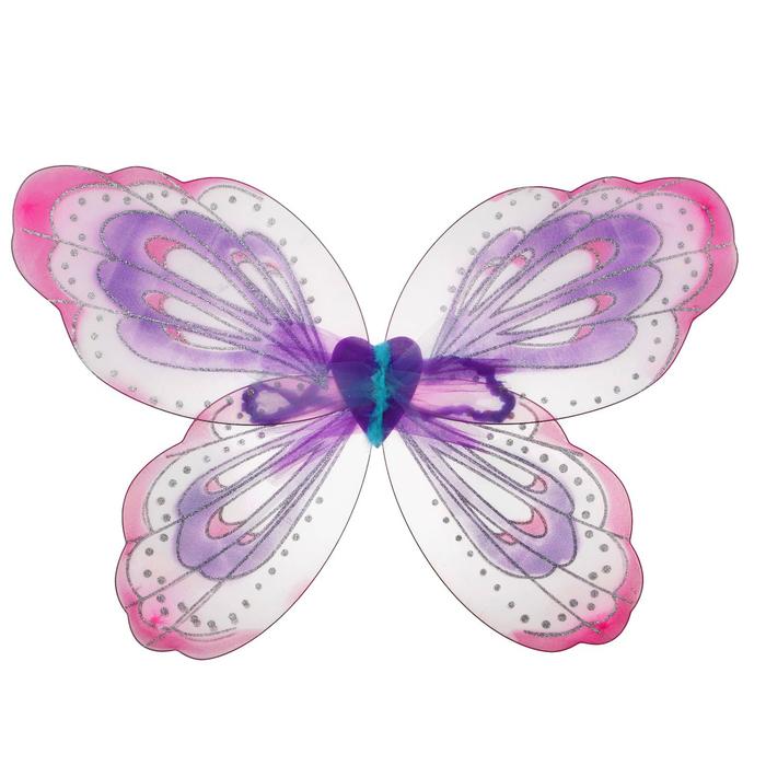 Карнавальные крылья «Узор», для детей, цвет розовый - фото 452591