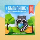 """Значок-талисман """"Выпускник начальной школы"""", енот, 8 х 8 см"""